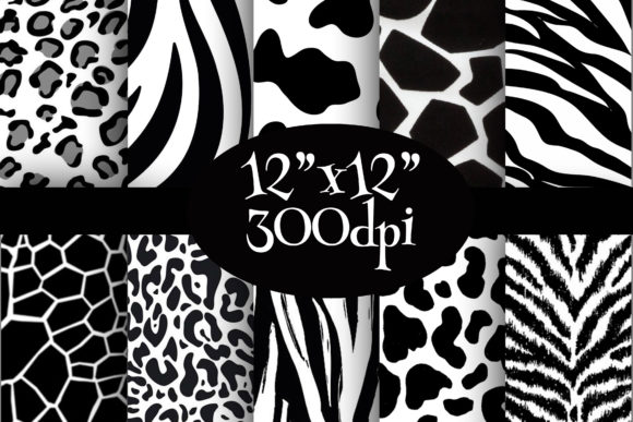 Print on Demand: Wild Safari Digital Paper Pack Graphic Backgrounds By Party Pixelz