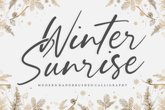 Print on Demand: Winter Sunrise Script & Handwritten Font By Balpirick