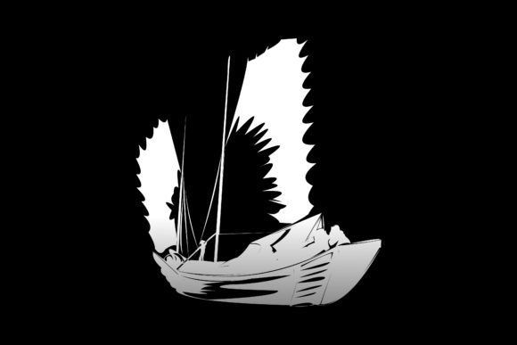 Print on Demand: Traditional Asian Boat Graphic Illustrations By ayska17