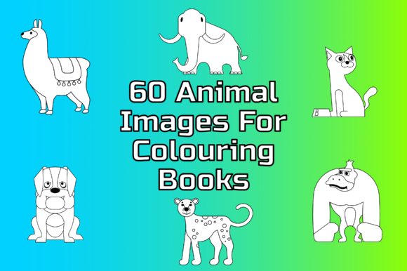 60 Animal Images for Colouring Books Graphic Coloring Pages & Books Kids By Take It And Teach