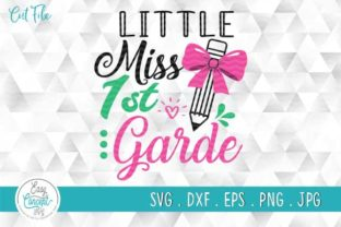 Print on Demand: Back to School, Little Miss 1st Grade Graphic Crafts By EasyConceptSvg