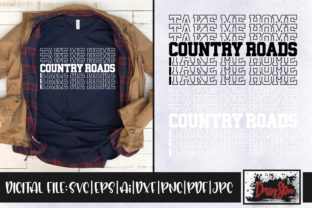 Country Roads Take Me Home Gráfico Crafts Por DrissyStore