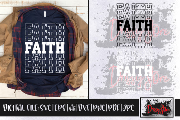 Faith Graphic Crafts By DrissyStore