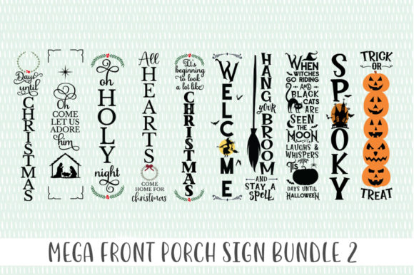 Front Porch Sign Bundle 2 Graphic Crafts By Simply Cut Co