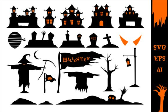 Print on Demand: Halloween Scary Clipart Set Graphic Illustrations By edywiyonopp