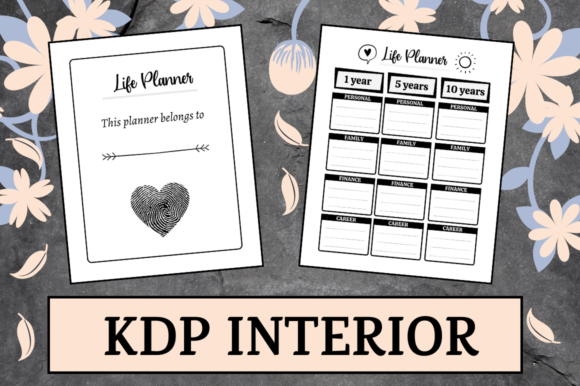 Print on Demand: Life Planner | KDP Interior Graphic KDP Interiors By KDP Mastermind