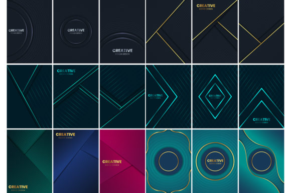 Luxury Covers Bundle Graphic Backgrounds By medelwardi