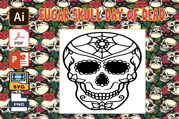 Print on Demand: Sugar Skull Day of the Dead Coloring V33 Graphic Coloring Pages & Books Adults By Tatus Brinal