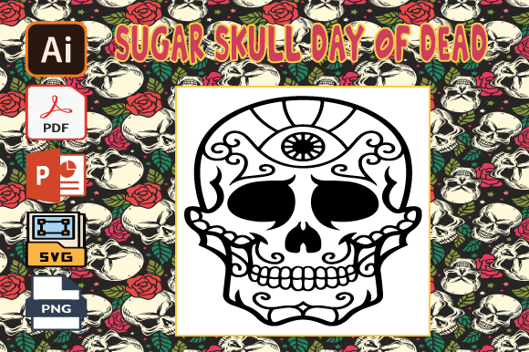 Print on Demand: Sugar Skull Day of the Dead Coloring V36 Graphic Coloring Pages & Books Adults By Tatus Brinal