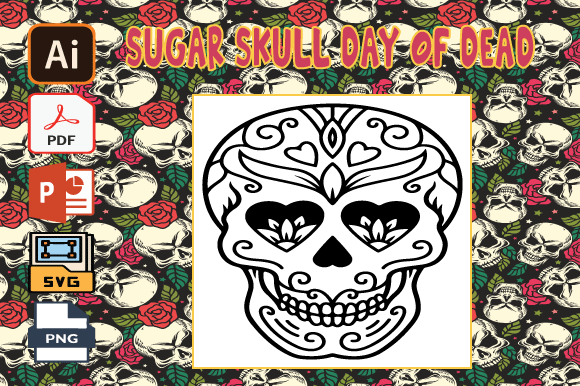 Print on Demand: Sugar Skull Day of the Dead Coloring V37 Graphic Coloring Pages & Books Adults By Tatus Brinal