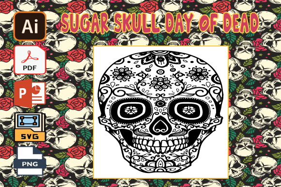 Print on Demand: Sugar Skull Day of the Dead Coloring V38 Graphic Coloring Pages & Books Adults By Tatus Brinal