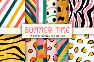 Print on Demand: Summer Time Background Digital Papers Graphic Backgrounds By PinkPearly