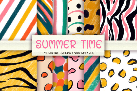 Summer Time Background Digital Papers Graphic Backgrounds By PinkPearly