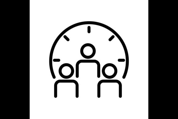 Print on Demand: Time Management, Leadership Concept Line Graphic Icons By ojosujono96