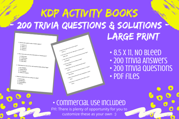 Print on Demand: 200 Trivia Questions/Answers Large Print Graphic KDP Interiors By Tomboy Designs