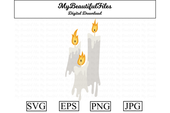 Print on Demand: Candles Halloween Graphic Illustrations By MyBeautifulFiles