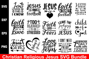 Print on Demand: Christian Religious Jesus Bundle Graphic Crafts By BDB_Graphics