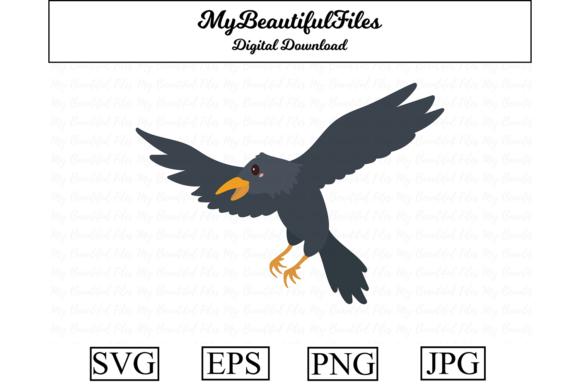 Print on Demand: Crow Halloween Cute Clipart Graphic Illustrations By MyBeautifulFiles