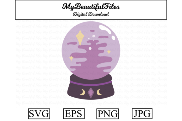 Print on Demand: Crystal Ball Halloween Clipart Graphic Illustrations By MyBeautifulFiles