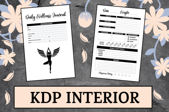 Print on Demand: Daily Wellness Journal | KDP Interior Graphic KDP Interiors By KDP Mastermind