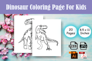 Print on Demand: Dinosaur Coloring Pages for Kids-KDP Graphic Coloring Pages & Books Kids By Sei Ripan