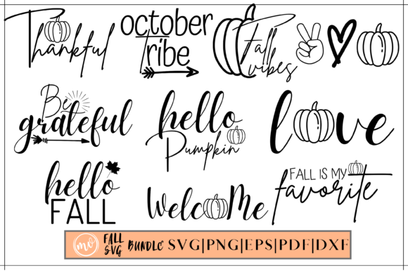 Print on Demand: Fall Designs Bundle - 10 Graphic Crafts By Mockup Venue