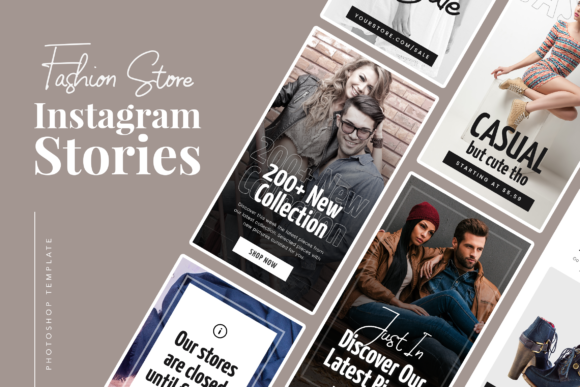 Print on Demand: Fashion Instagram Stories Graphic UX and UI Kits By peterdraw