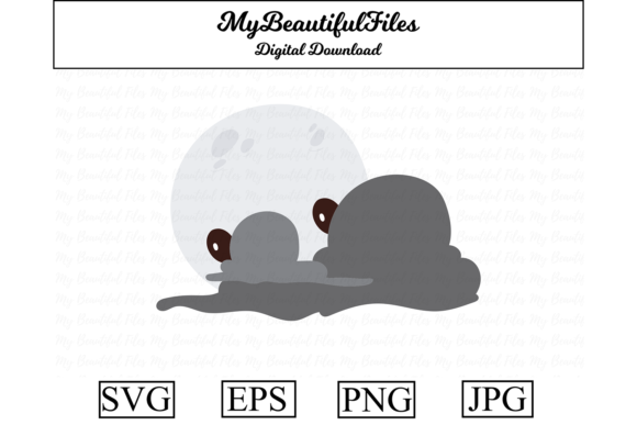Print on Demand: Full Moon with Clouds Halloween Graphic Illustrations By MyBeautifulFiles
