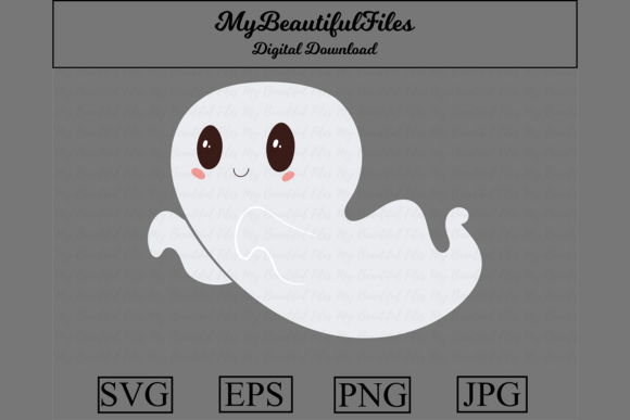 Print on Demand: Ghost Halloween Graphic Illustrations By MyBeautifulFiles