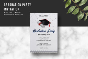 Print on Demand: Graduation Party Invitation Template Graphic Print Templates By sistecbd