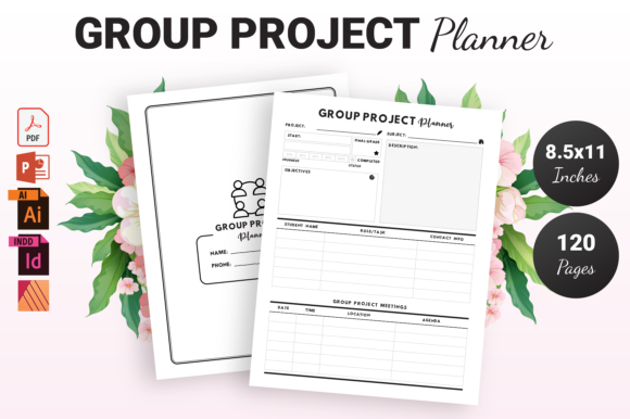 Group Project Planner - KDP Interior Graphic