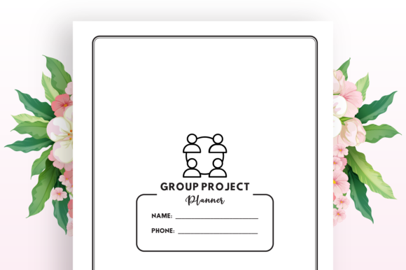 Group Project Planner - KDP Interior Graphic Download