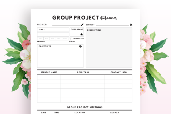 Group Project Planner - KDP Interior Graphic Item