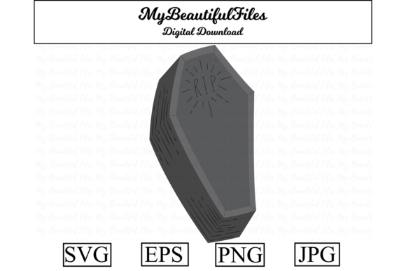 Print on Demand: Halloween Coffin Cute Clipart Graphic Illustrations By MyBeautifulFiles