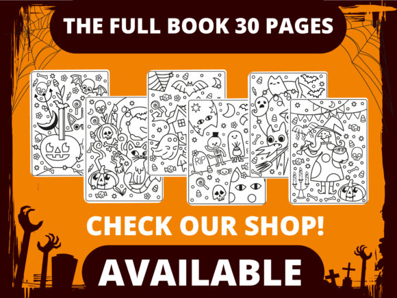 Halloween Coloring Page for Kids #12 Graphic Item