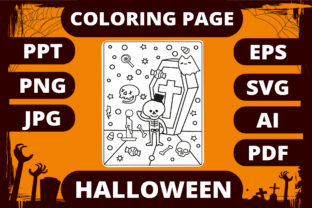 Print on Demand: Halloween Coloring Page for Kids #20 Graphic Coloring Pages & Books Kids By MikeToon Studio