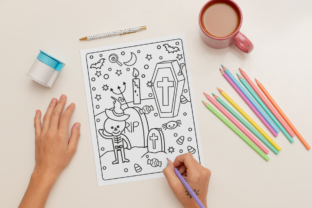 Print on Demand: Halloween Coloring Page for Kids #27 Graphic Coloring Pages & Books Kids By MikeToon Studio 2