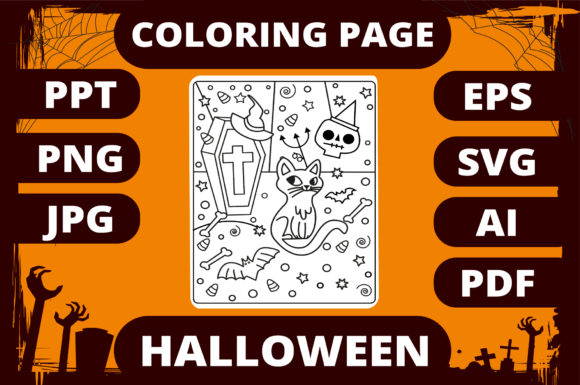 Print on Demand: Halloween Coloring Page for Kids #29 Graphic Coloring Pages & Books Kids By MikeToon Studio