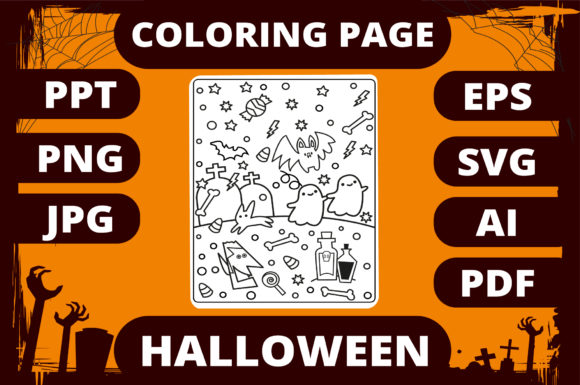 Print on Demand: Halloween Coloring Page for Kids #30 Graphic Coloring Pages & Books Kids By MikeToon Studio