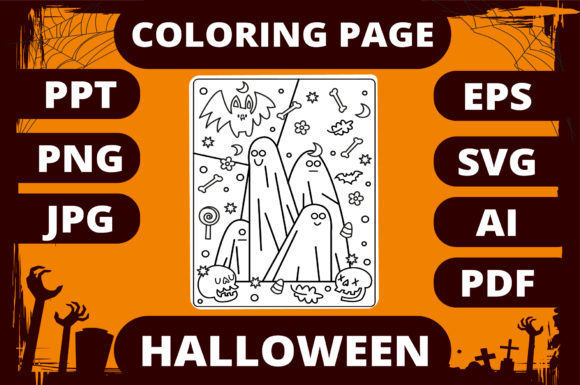 Print on Demand: Halloween Coloring Page for Kids #8 Graphic Coloring Pages & Books Kids By MikeToon Studio