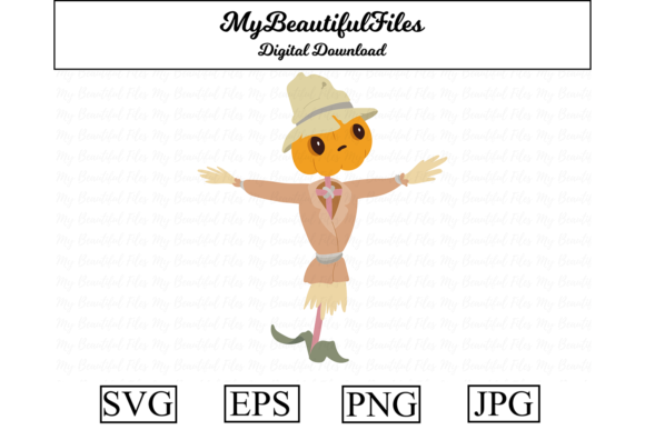 Print on Demand: Halloween the Cute Scarecrow Graphic Illustrations By MyBeautifulFiles