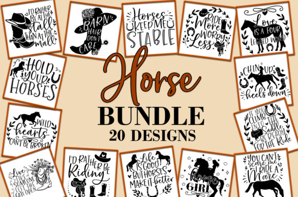 Print on Demand: Horse Riding Barn  Graphic Crafts By freelingdesignhouse