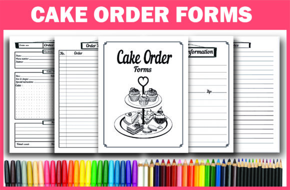 Print on Demand: KDP Interior, Cake Order Forms Ready PDF Graphic KDP Interiors By Fayne