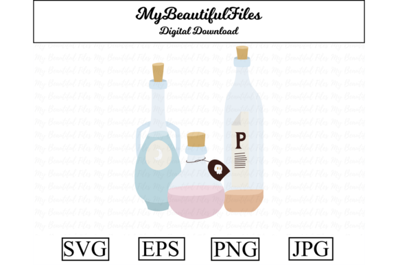 Print on Demand: Potions Clipart Graphic Illustrations By MyBeautifulFiles