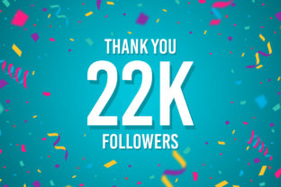 Thank You 22k Followers Graphic Backgrounds By Creative Mind