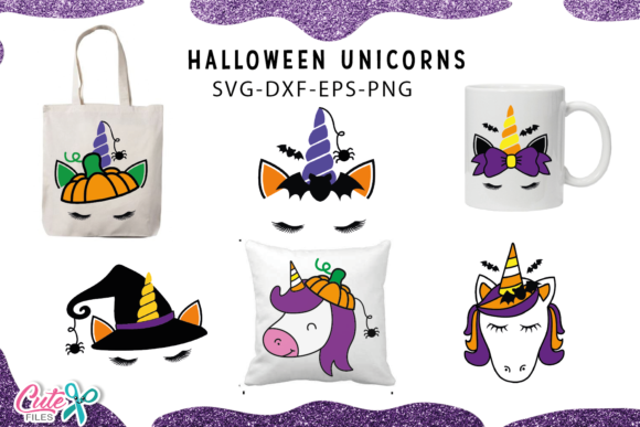 Unicorn Face Bundle Graphic Crafts By Cute files