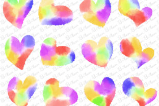 Watercolor Love Heart Graphic Illustrations By PurMoon
