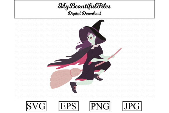 Print on Demand: Witch Halloween Cute Clipart Graphic Illustrations By MyBeautifulFiles