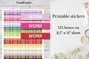 Work Planner Stickers Graphic Objects By Aneta Design