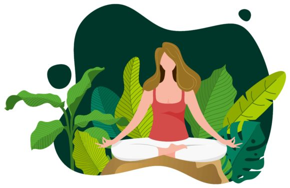 Yoga Meditation Flat Illustration Graphi Graphic Landing Page Templates By etinurhayati0586